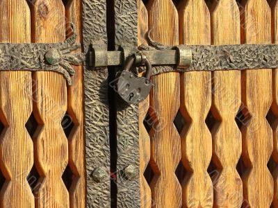 Wintage metal gate padlock