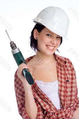 cheerful worker