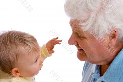 nose-grabbing baby