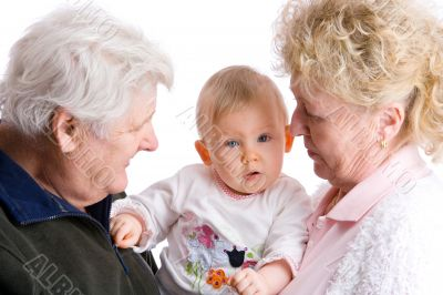 grandparents with cute granddaughter