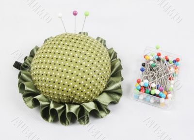 Pin cushion and pins