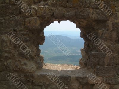 window on Roussillon