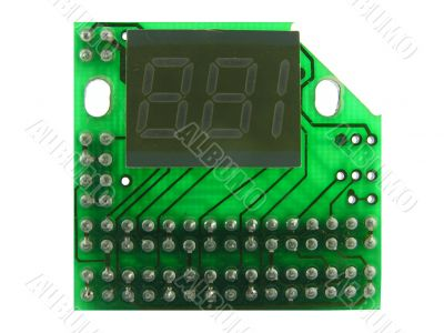 The electronic counter.