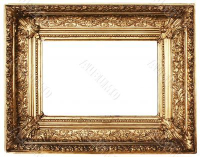 Ornamented Picture Frame Gold - Path Included