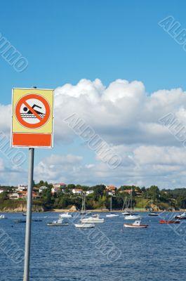 Billboard prohibited to bathe