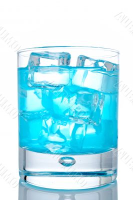 Glass of blue paradise cocktail