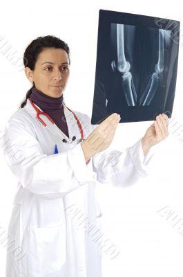 doctor examining a radiographs