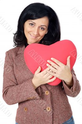 attractive lady enamored in san Valentine