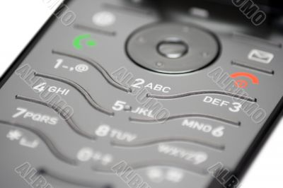 Cell Phone Keypad - Close View