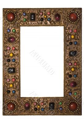 Picture Frame with Colored Stones - Path Included