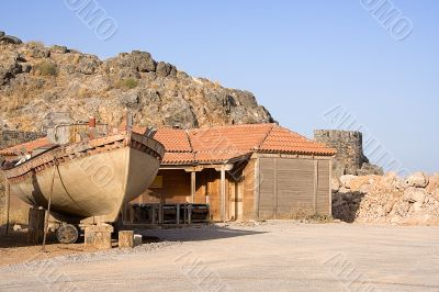 Traditional Ship Construction Site