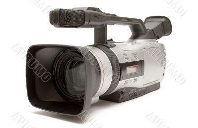 Digital Video Camera - Front-Side View