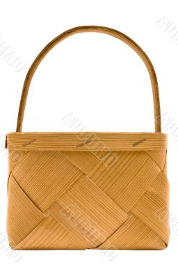 Cubic Wooden Basket w/ Path - Side View