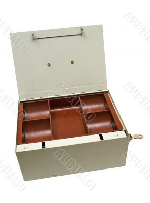Grey Cash Box w/ Path - Top Front View
