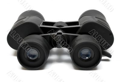 Binoculars Front - Side View w/ Path