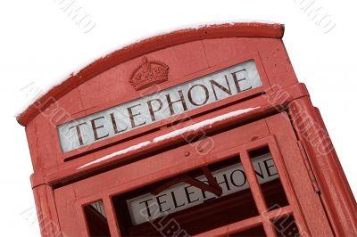 British Phone Box w/ Path - Close View