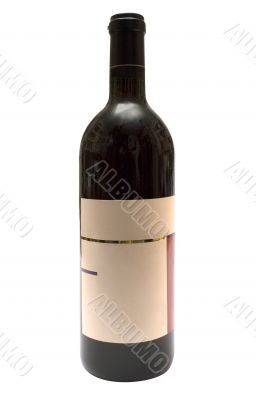 Bottle of Red Wine w/ Blank Label - Path Included