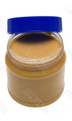 Open Glass of Peanut Butter w/ Path