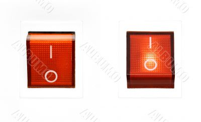 Red Power Switch - ON/OFF