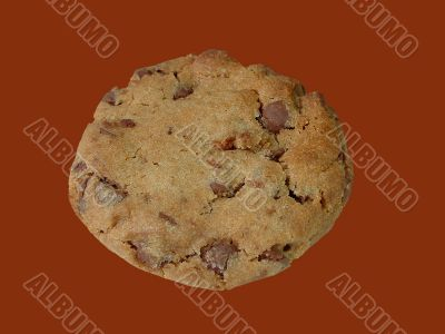 Chocolate chip cookie (isolated)