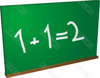 Math blackboard