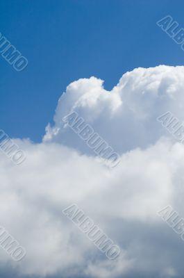 cumulus and blue sky