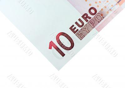 Corner of Ten Euro Bill