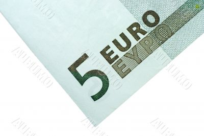 Corner of Five Euro Bill
