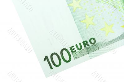 Corner of One Hundred Euro Banknote