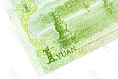 Corner of One Yuan Banknote