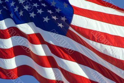 Tilted US Flag