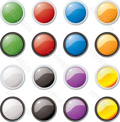 glass buttons rim