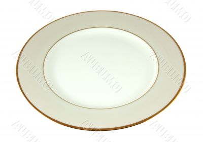 Ivory empty plate