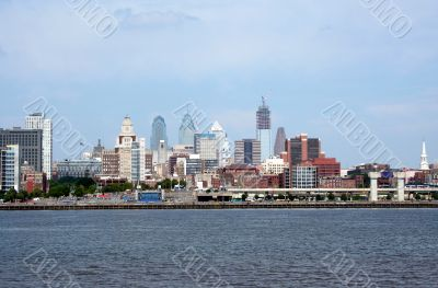 Waterfront city scape