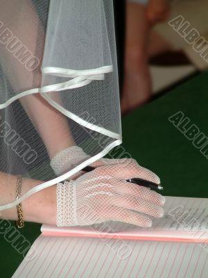 Wedding, signature