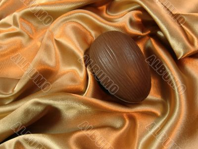 Easter egg on satin