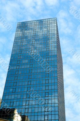 Office building over sky