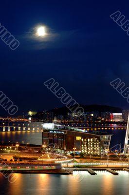 Night scene of  Entertainment Center, Macau