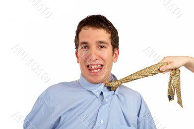 Pulling the necktie