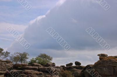 Cloud over Brimham Rocks