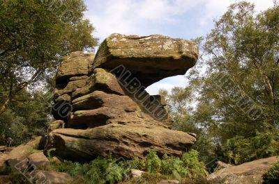 Stone formation at Brimham Rocks