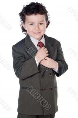 adorable child with elegant clothes
