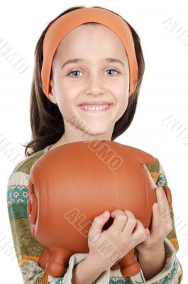 girl putting its savings
