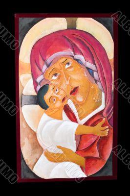 antique religious icon