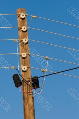 vintage electricity pole