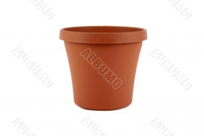 Plastic terracotta planter