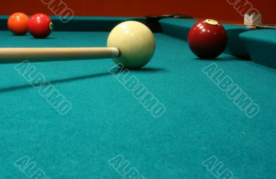 Billiard Balls and cue stick
