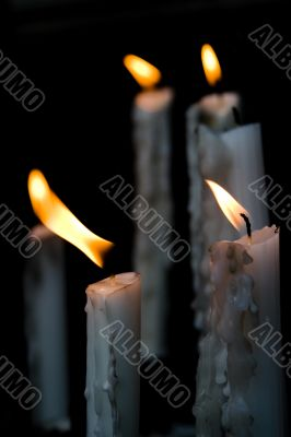 Candles in the altar