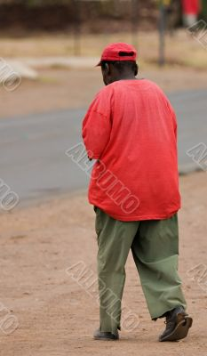 poverty african man