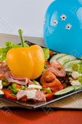 Smoked beef salad